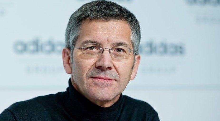 Caucasian man wearing glasses, Herbert, Hainer, adidas, CEO, business, company