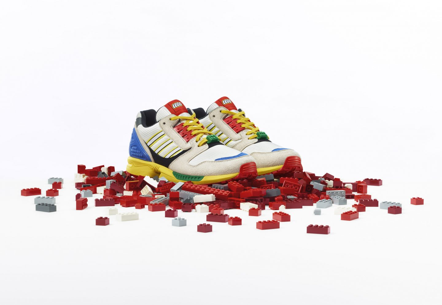 Lego and adidas trainers, ZX 8000, collaboration, hype, partnership, LEGO