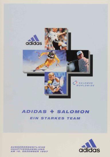 adidas and Salomon poster, merger, acquisition, sports, company, adidas, Salomon