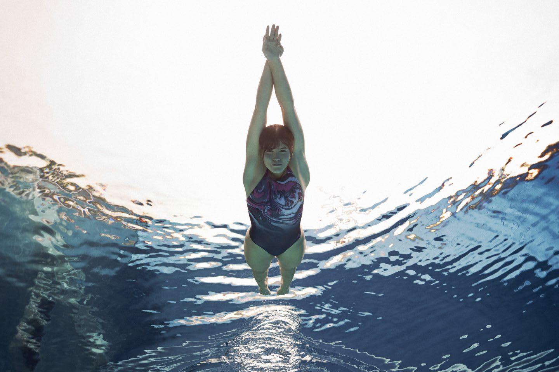 Woman swimming in a pool, sports, swimming, swim, pool, water, sport, adidas