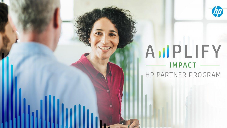 Poster of Amplify HP partner program, HP, corporate, program, initiative