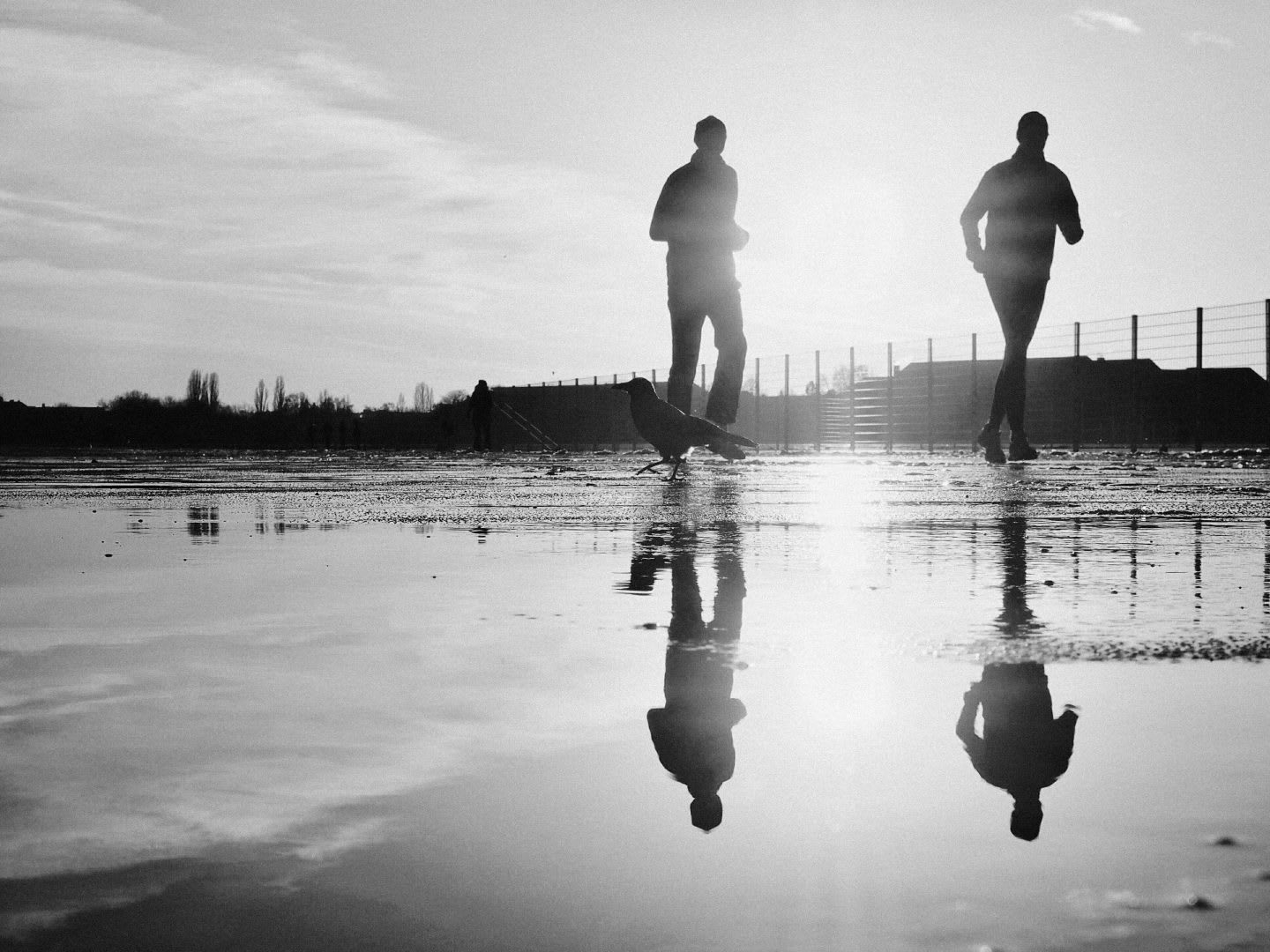 two men running successful habit change accountability partner