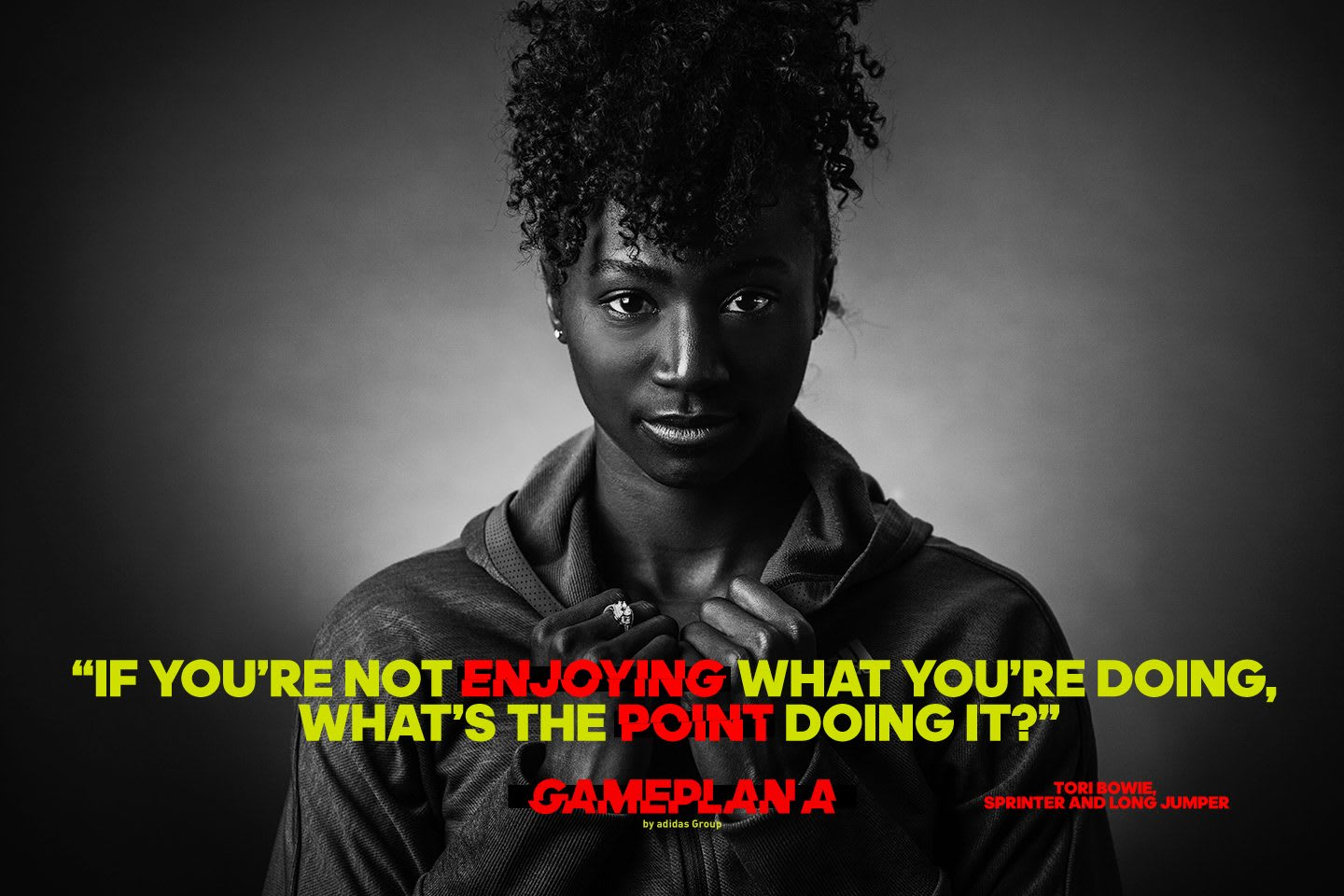 tori bowie sprinter and long jumper quote