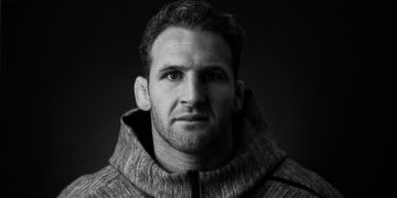 Kieran Read portrait black and white, All Blacks, What's your game plan?, interview, captain