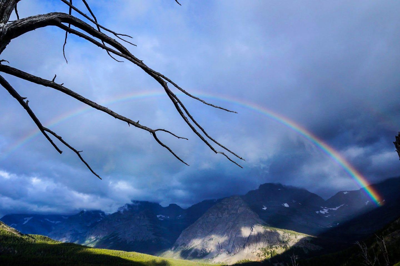 Glacier National Park USA Rainbow