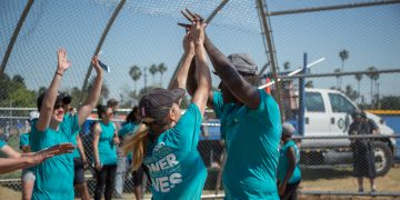 adidas employees beneficence John Muir High-School Jackie Robinson Baseball Field construction