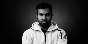man with white hoodie and crossed arms rohit sharma cricket minset whats your gameplan interview