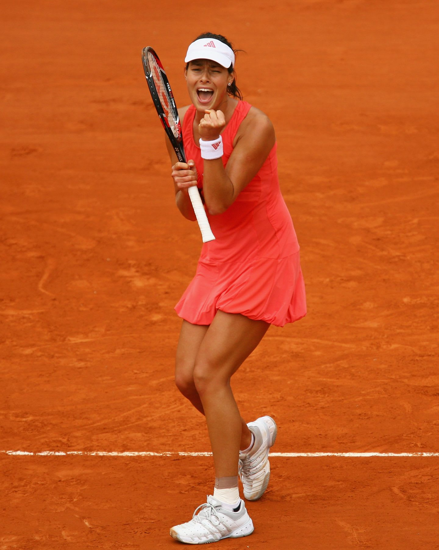 French Open - Roland Garros 2008 Ana Ivanovic cheering interview listen to your heart
