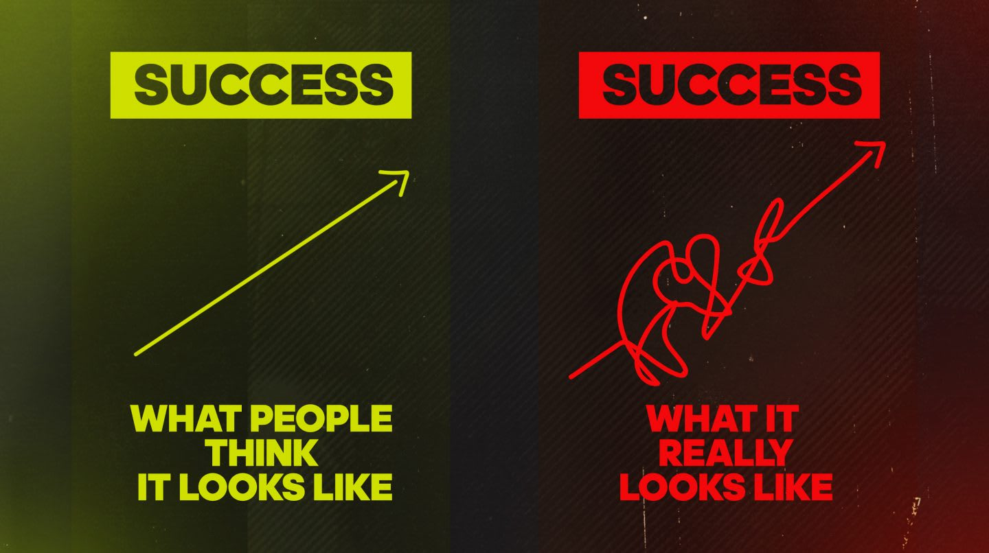 success arrow graphic reality failure