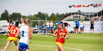 female lacrosse player in action leader journey to success