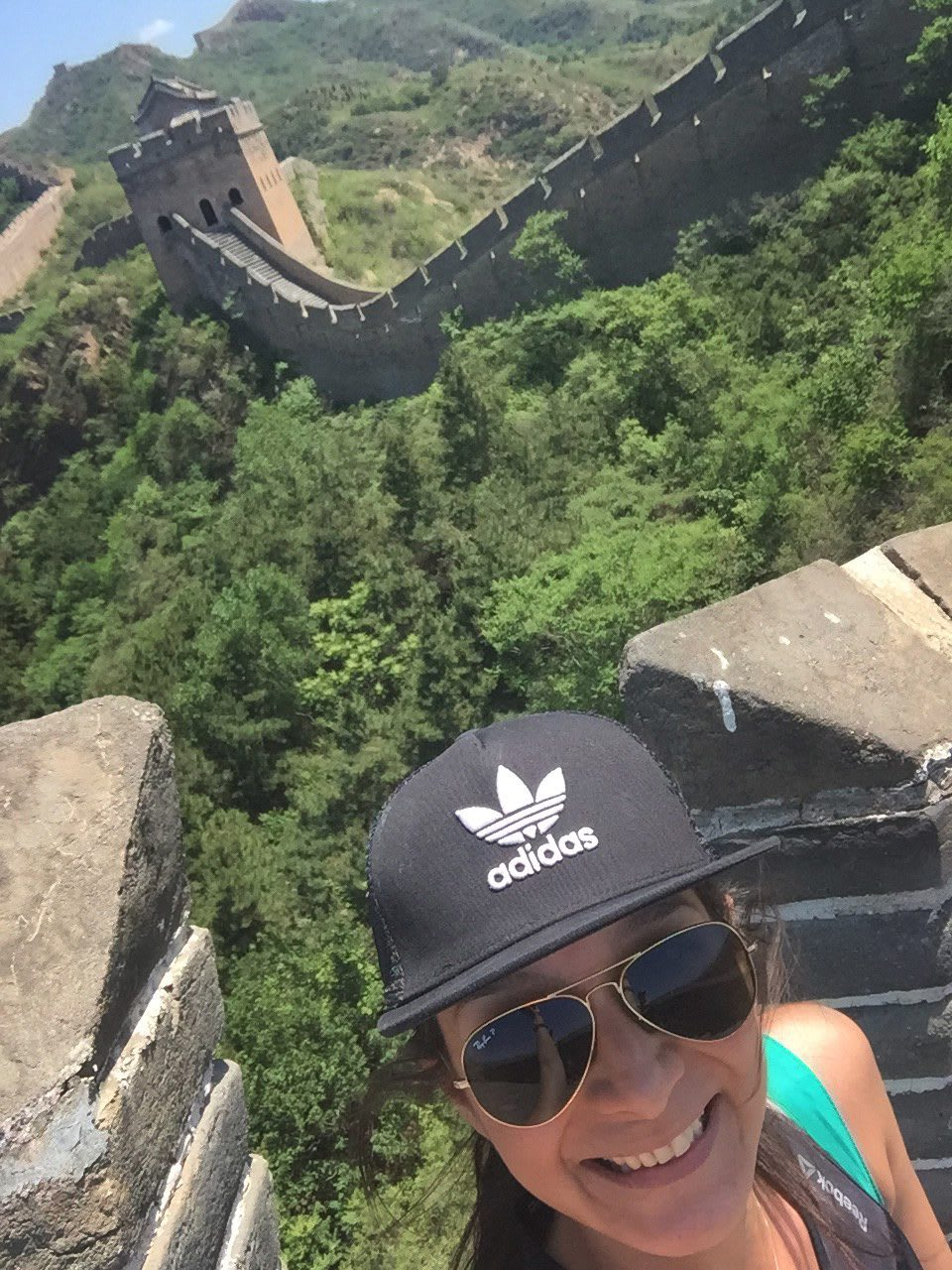 woman selfie great wall china trainee ditching stereotypes exploring