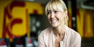 blonde woman smiling Anna Kleb Reebok Yoga Entrepreneur