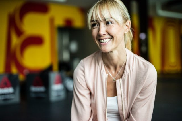 blonde woman smiling Anna Kleb Reebok Yoga Entrepreneur
