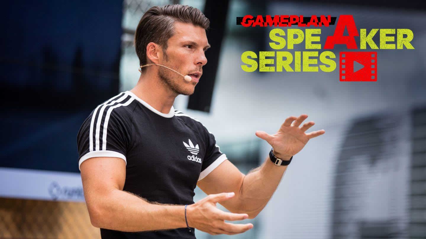 Runastic CEo Florian Gschwandtner talks on stage. adidas, GamePlan A, Speaker Series, Mindset, Career, Entrepreneur, success