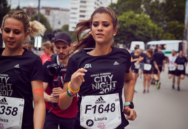 Female runners running at adidas Runners City Night 2017 in Berlin, adidas_Running_Marathon_adidas Runners Berlin_Who Said Girls Cant Race