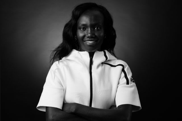 Mary Keitany_What's Your Gameplan_black and white
