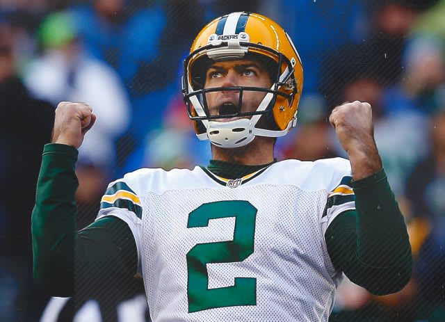 Mason Crosby from Green Bay Packers winning pose. lessons, life lessons, interview, adidas, Mark King, podcast, Extraordinary Happens