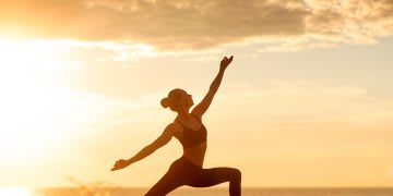 caucasian fitness woman practicing yoga