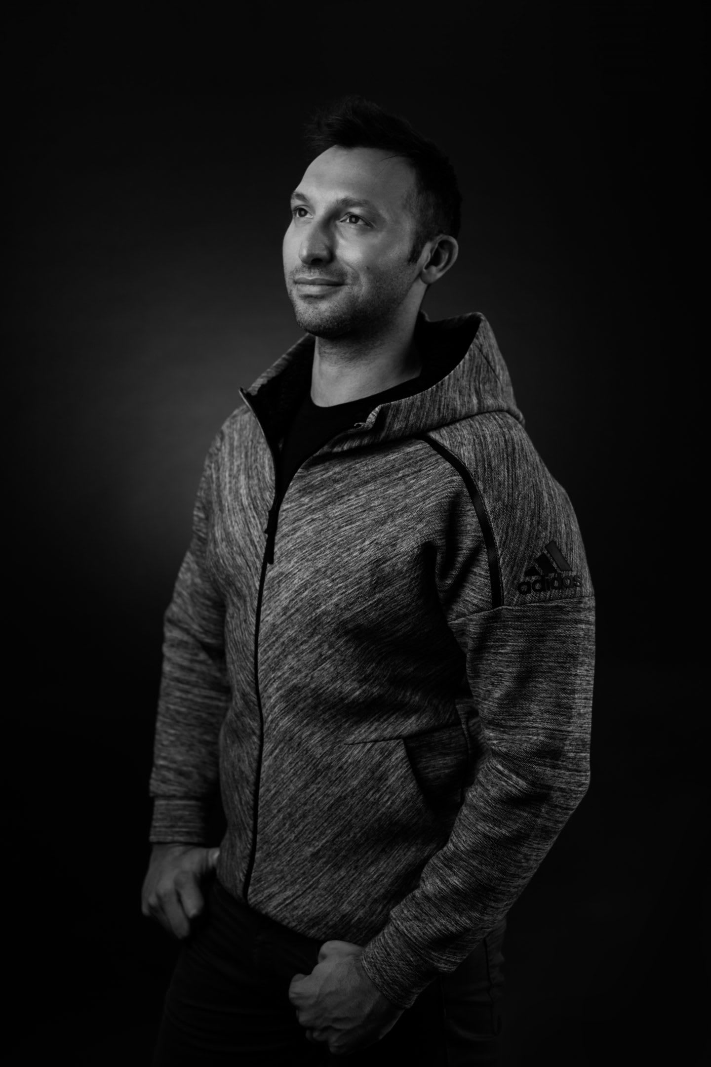 Black and white photo of Ian Thorpe at adidas. Coming out, confidence, mental health, interview, bullies, GamePlan A, youth, support, gay athletes, swimmer, Olympic champion