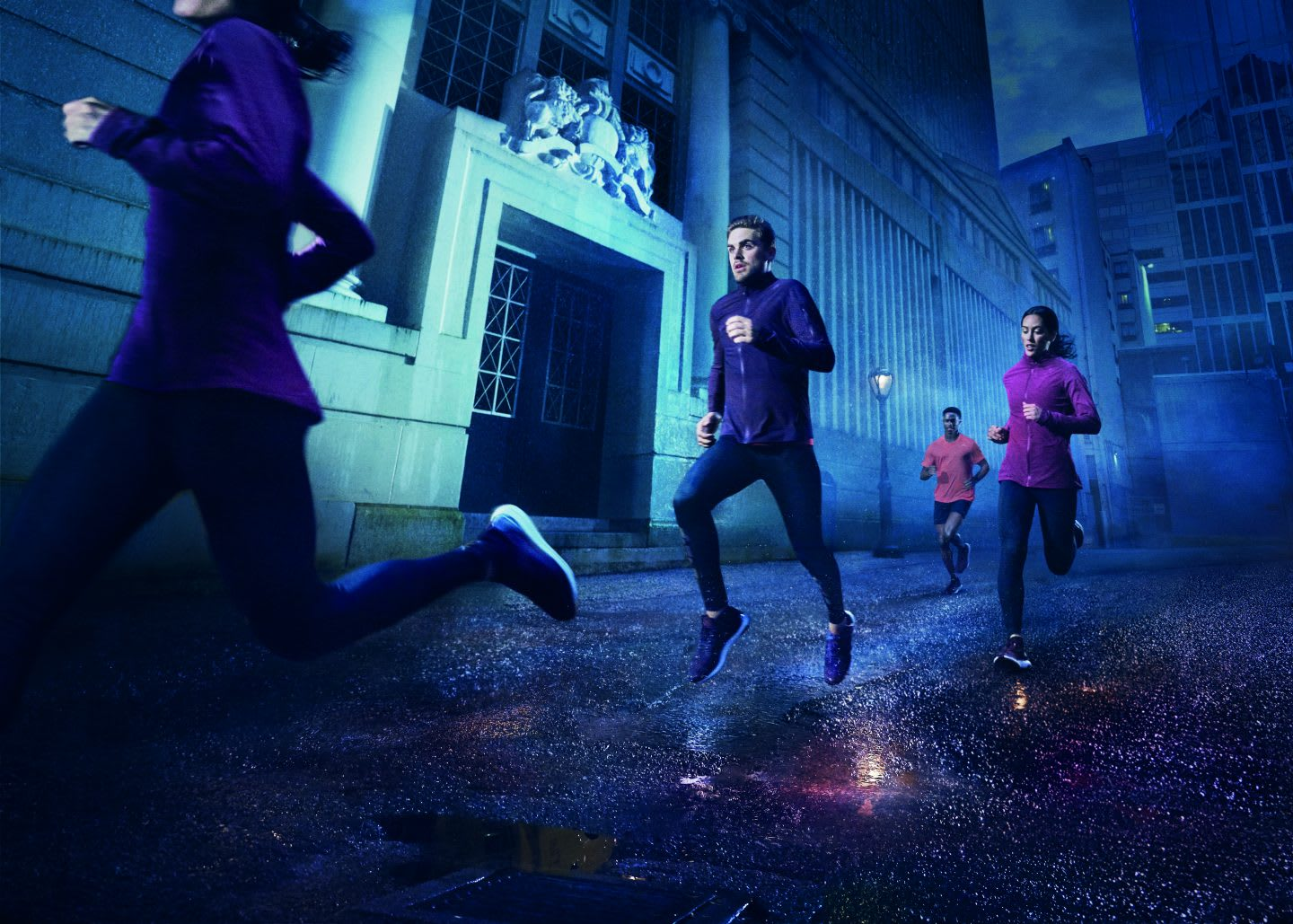 People running at night in a street, adidas, GamePlan A, holidays, work-life balance, fitness, self-improvement