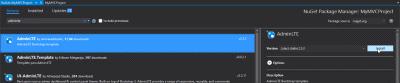 Visual Studio MVC application - NuGet installation of AdminLTE package