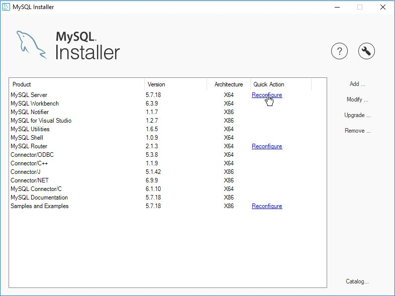 MySQL Installer Community