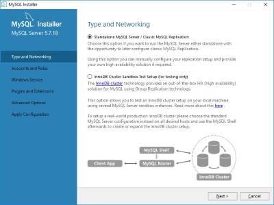 MySQL server installer