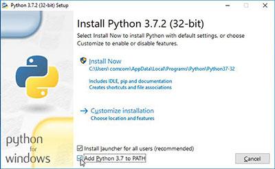 python install - add python to path