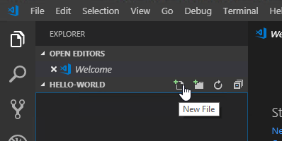 visual studio code - create a new file