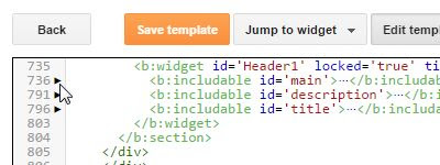 Blogger - Expand Code Line for id main