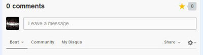 Disqus comment system on blogger