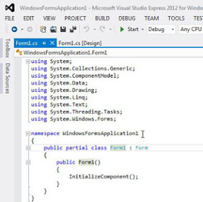 Code Editor in Visual Studio
