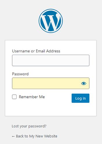 Wordpress - login page