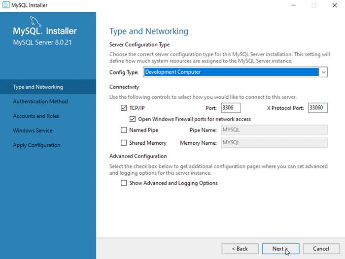 Windows MySQL Installation Step - Product Configuration steps