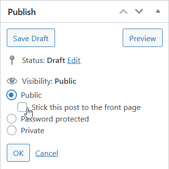 Publish 'Stick this post to the front page' option for custom post types in WordPress