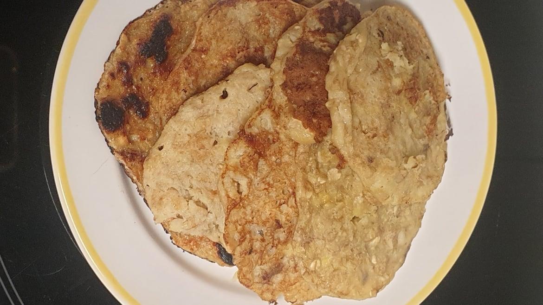Tortitas de avena endulzadas con plátano