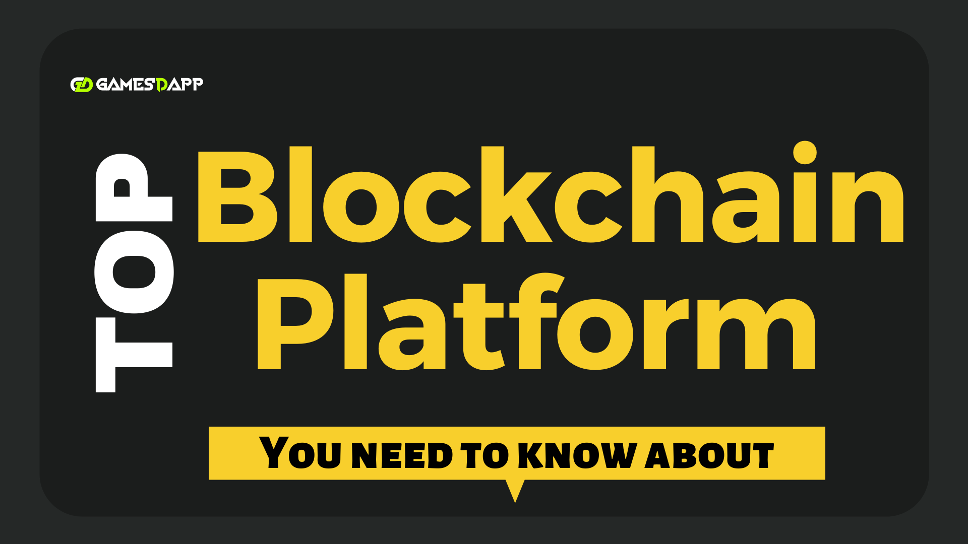 Top Blockchain Platforms You Need to Know About