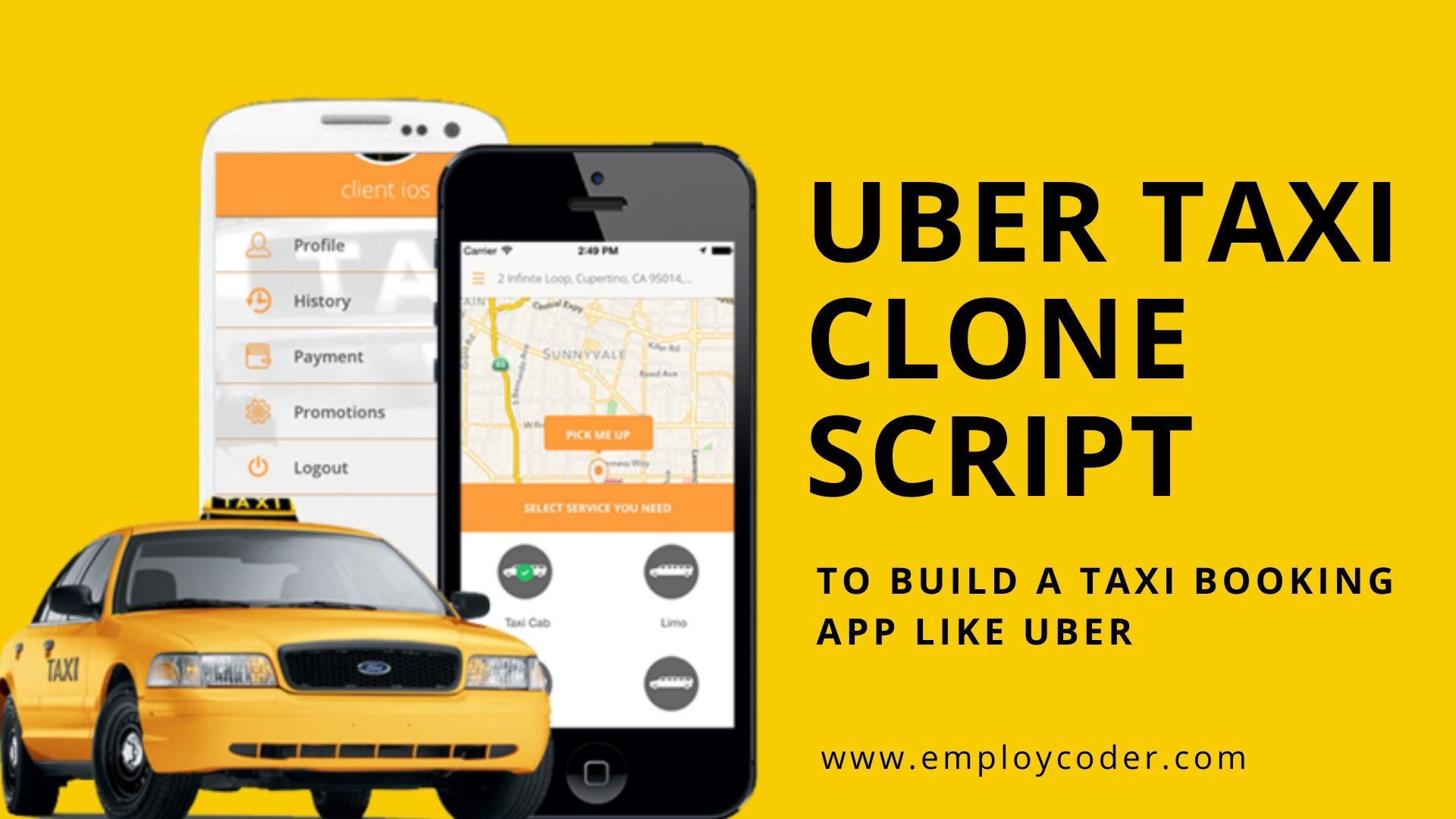Uber Taxi Clone Script - Start a Taxi Booking App like Uber
