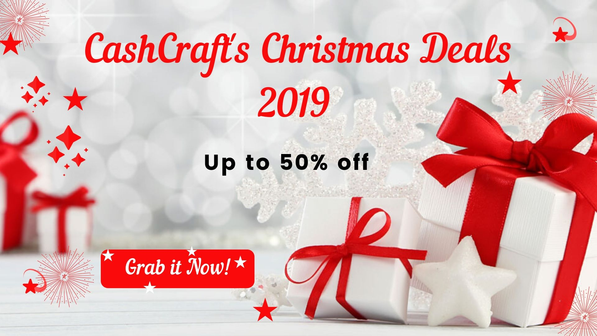 CashCraft's Christmas Deals 2019 | Up to 50% off on Cashback Web & App Development