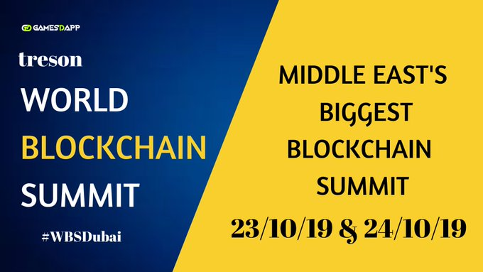 GamesDApp is now at World Blockchain Summit Dubai 2019