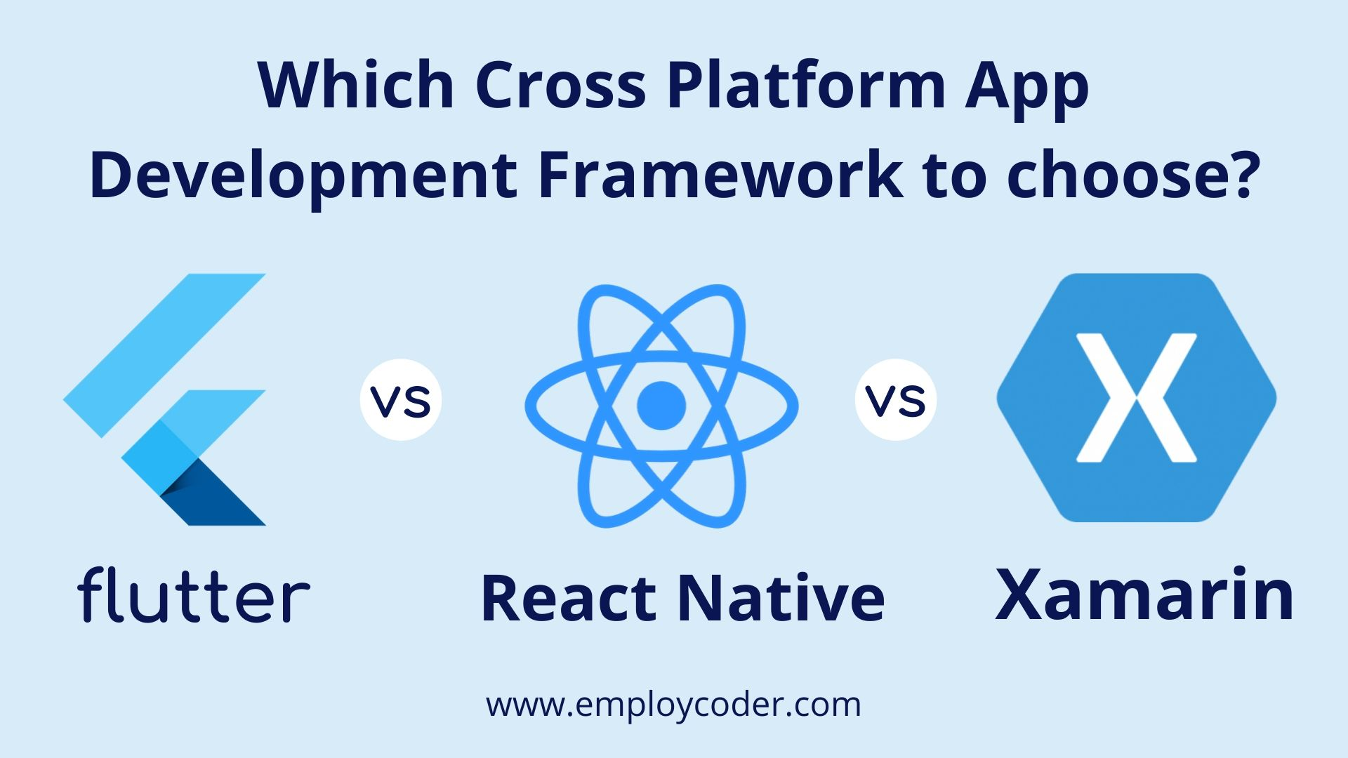 React Native vs Flutter vs Xamarin : Which Cross Platform App Development Framework to Choose in 2020?