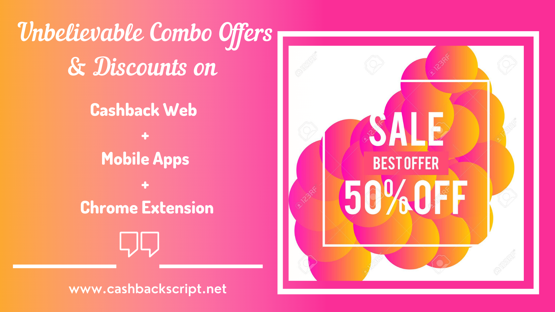 Unbelievable Combo Offers & Discounts on Cashback Web + Mobile App + Chrome Extension