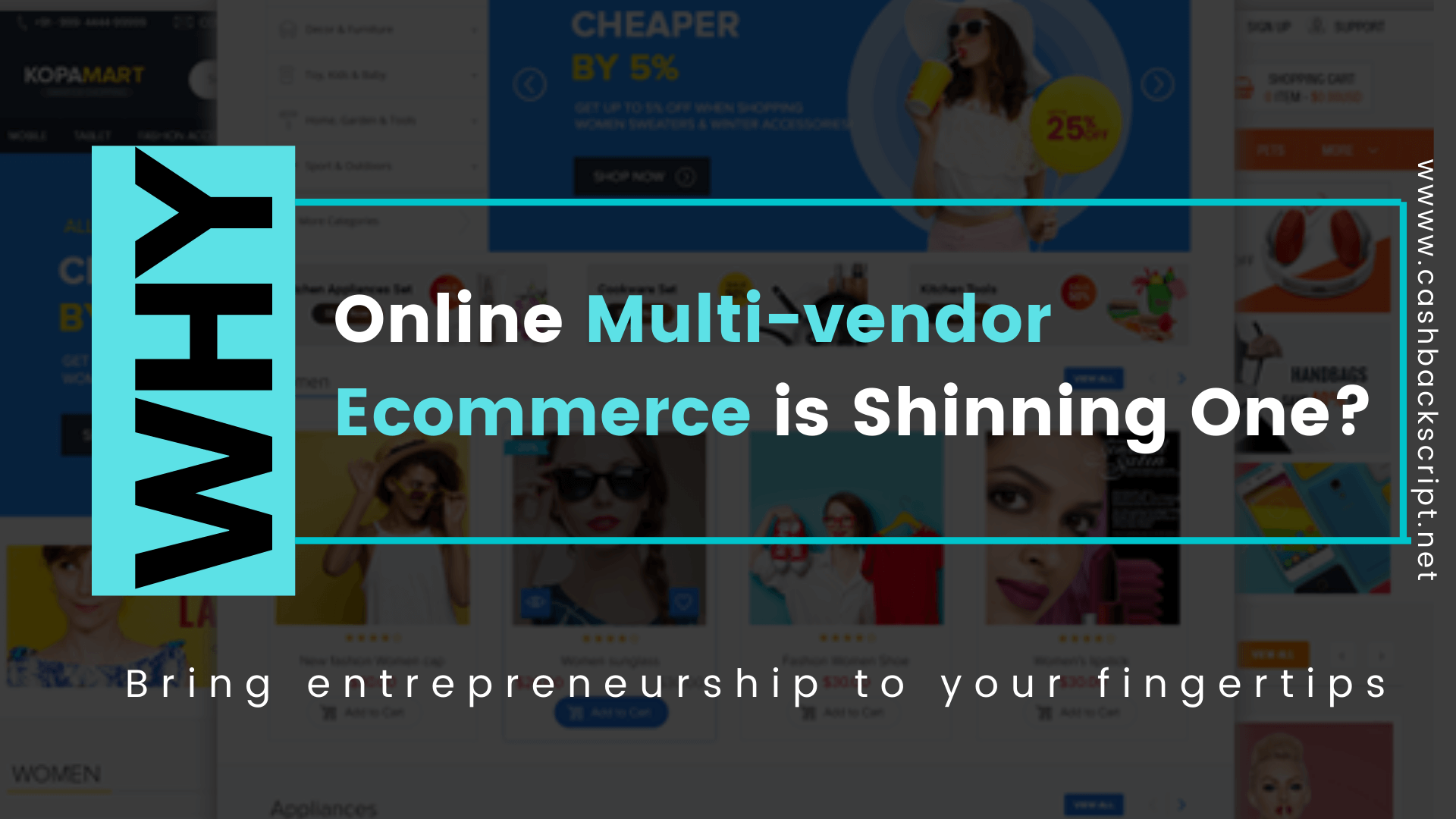 Why Online Multi-vendor Ecommerce is Shinning One?