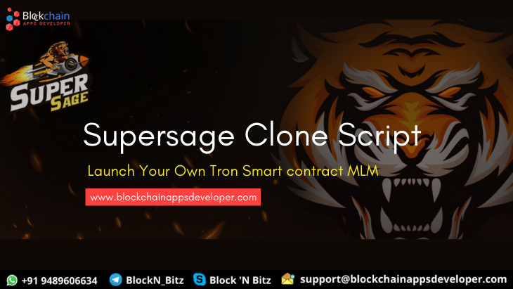 Supersage Clone Script To Start Tron Smart Contract Based MLM like supersage.io