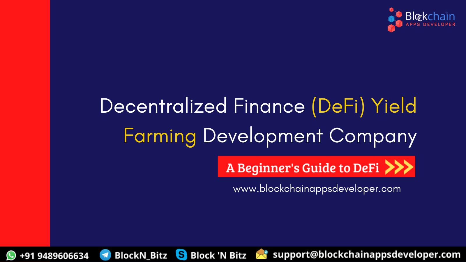 DeFi Yield Farming Development Services Company