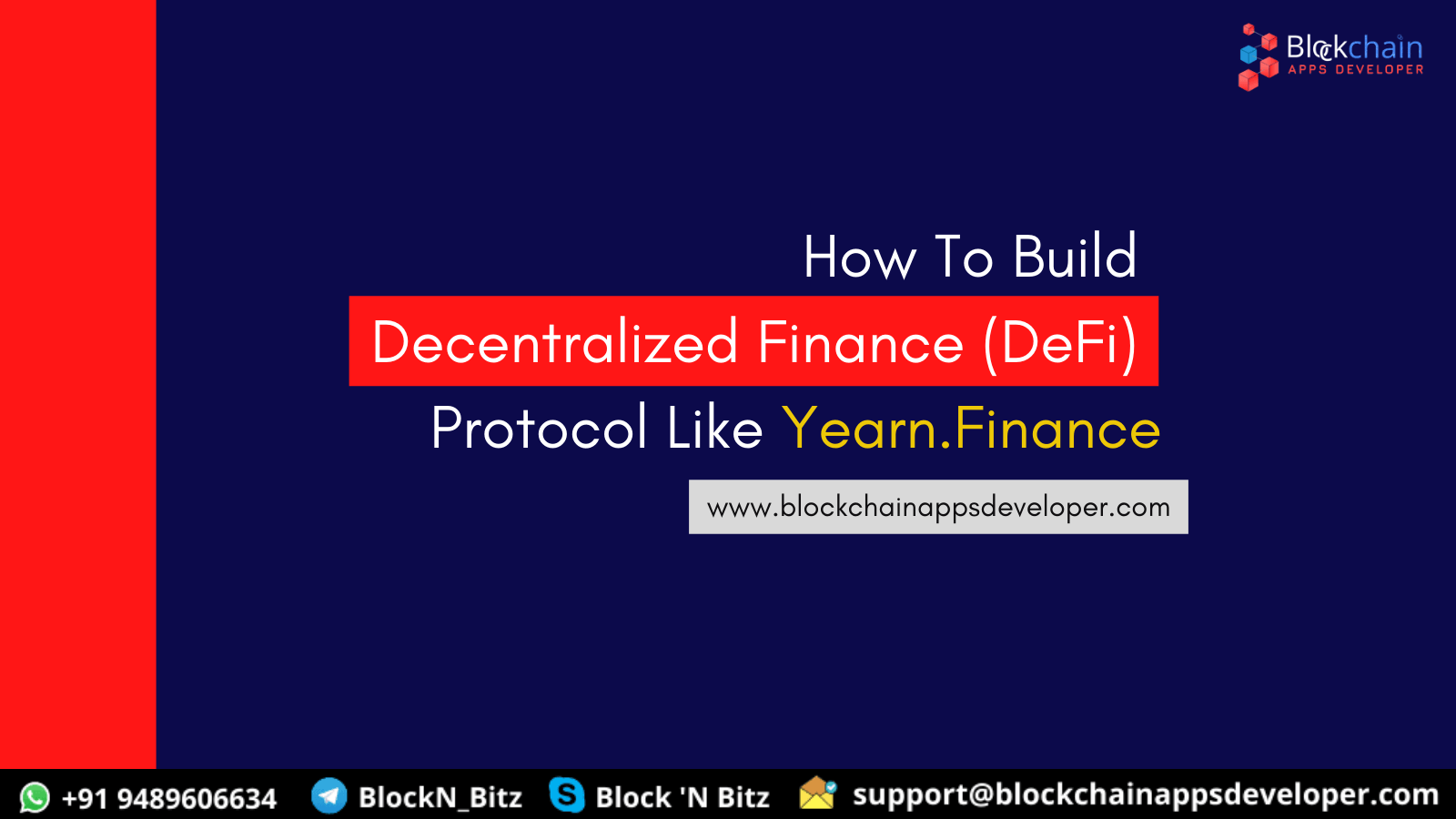 How to Build Decentralized Finance (DeFi) Protocol Product Like Yearn.finance?