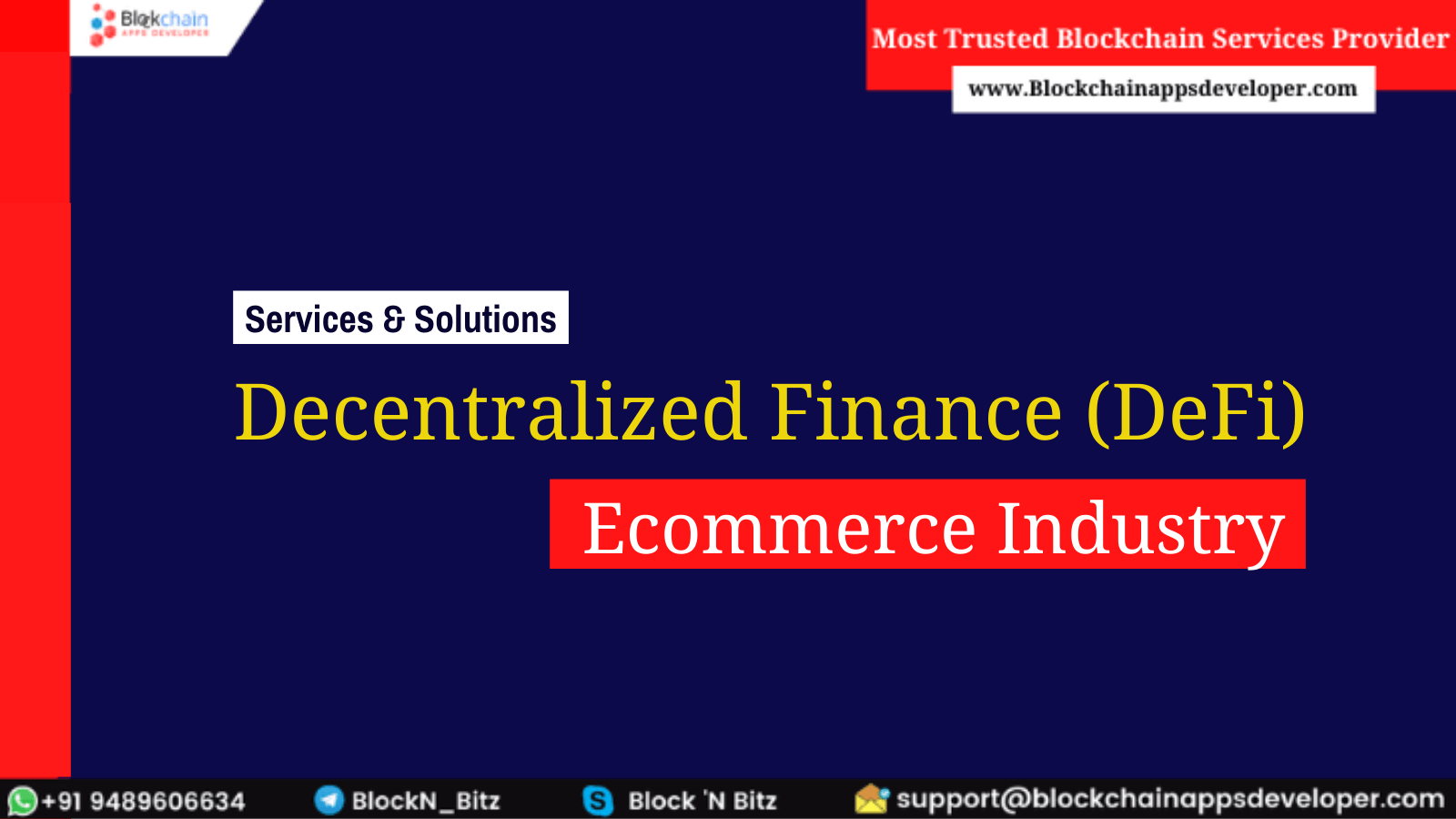 How Decentralized Finance (DeFi) can improve the E-commerce Sector?