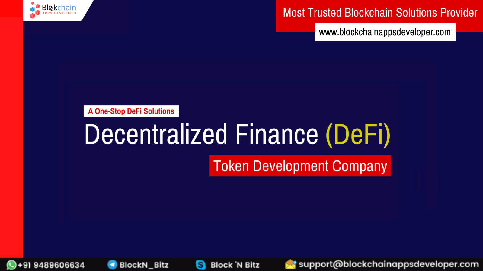 Decentralized Finance (DeFi) Token Development Company - A One-Stop DeFi Solutions Provider