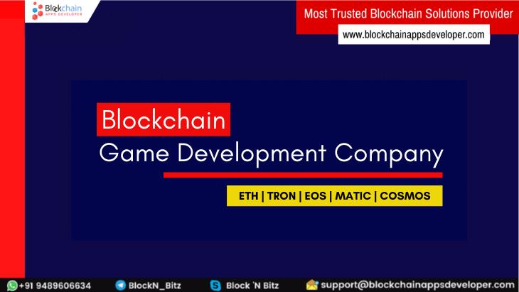 Blockchain Game Development Company For Blockchain Dapp Game Development Services