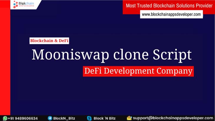 Mooniswap Clone Script - To Start Decentralized Exchange like Mooniswap